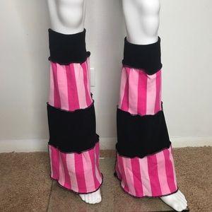 Trixy Xchange Pink Striped Flared Leg Warmers
